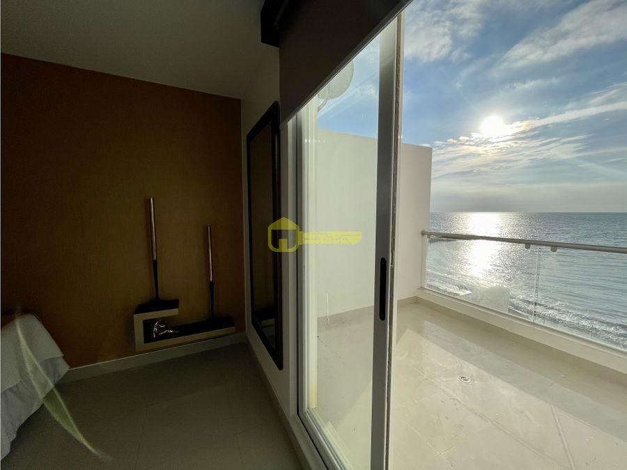hermoso departamento frente al mar ubicado en urbanizacion privada
