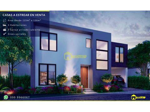 nuevas casas a estrenar en manta conjunto privado