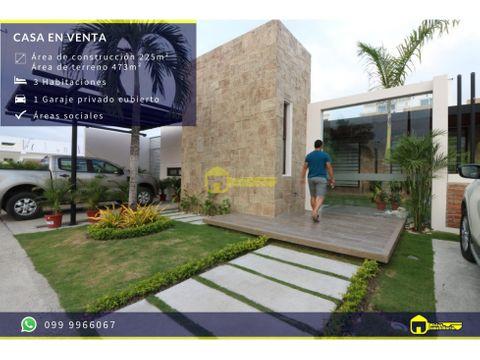 casa en venta en urbanizacion manta beach