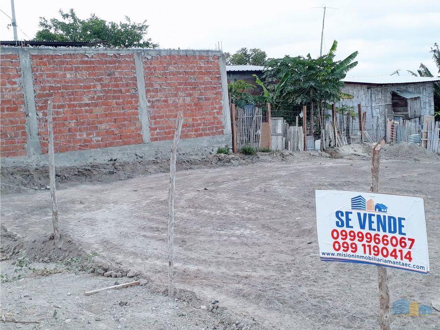 se vende terreno cerca al registro civil manta