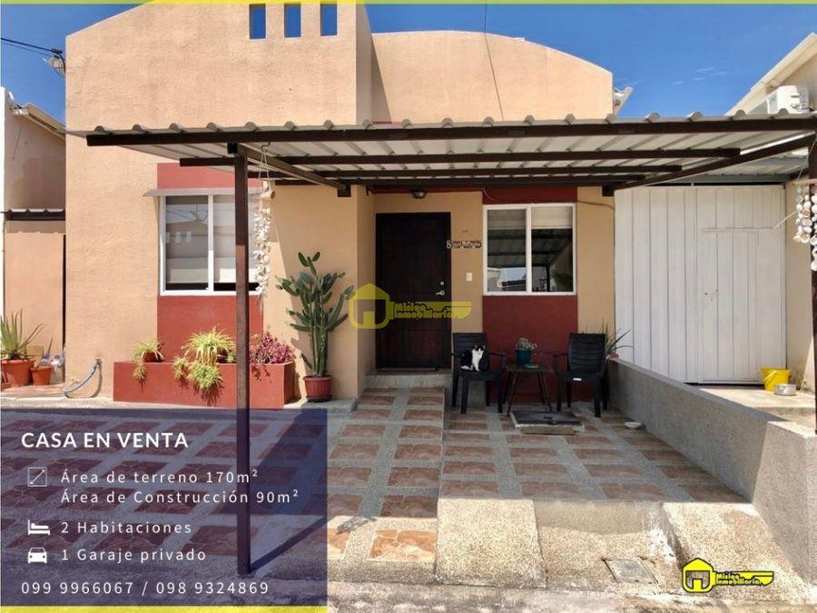 se vende hermosa casa tipo villa en urbanizacion privada sur de manta
