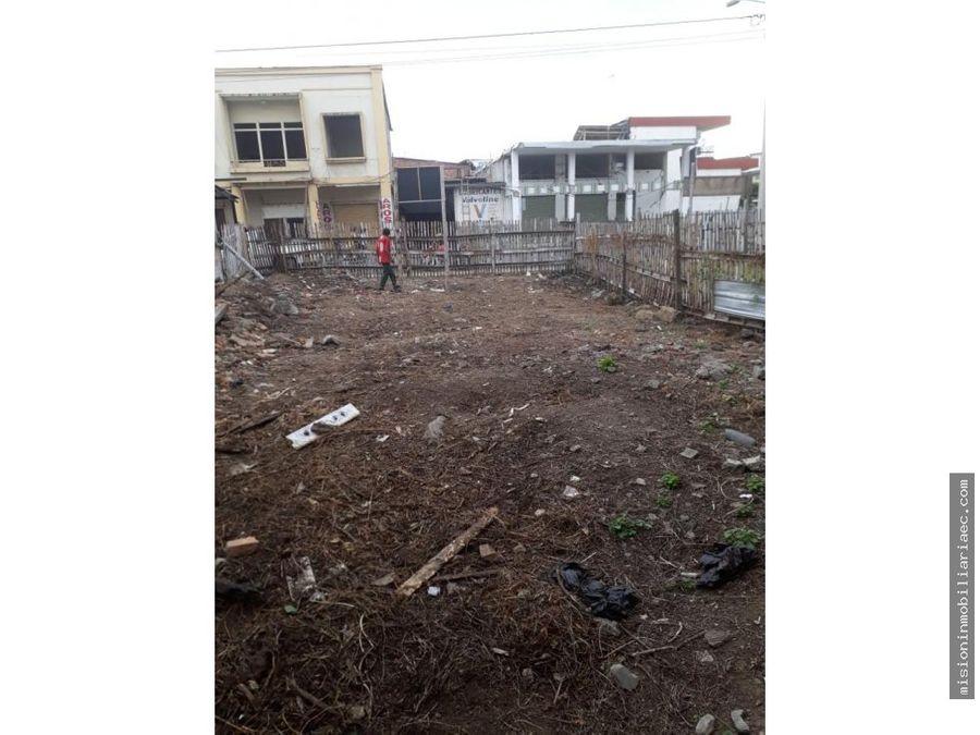 se vende terreno en el centro de portoviejo