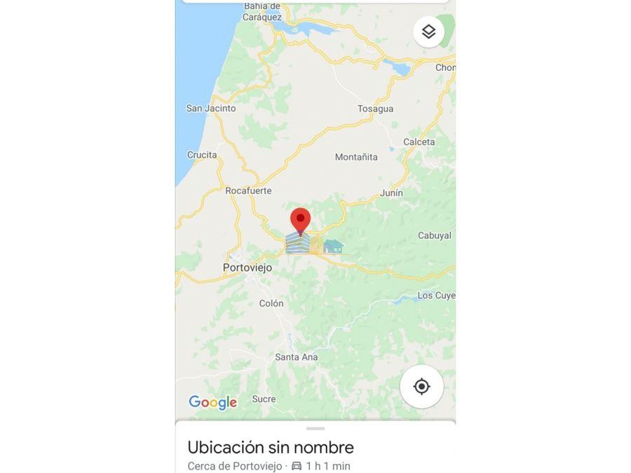 venta de 44 hectareas en rio chico portoviejo