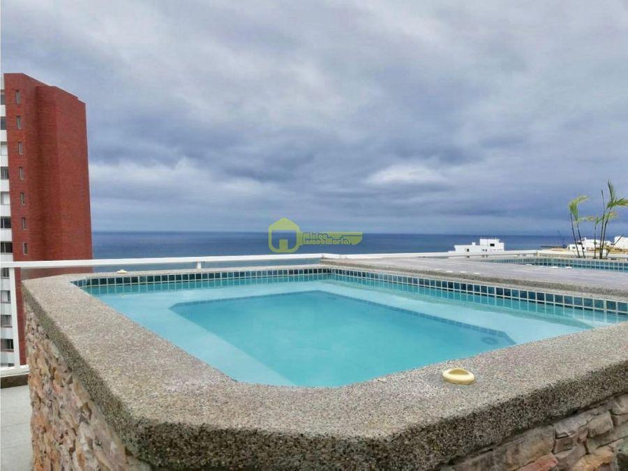 en renta hermoso departamento amoblado con vista al mar
