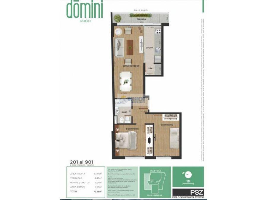 apartamento 2 dormitorios estrenar cordon y garaje