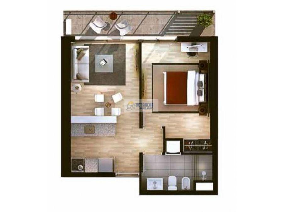 venta de apartamento 1 dormitorio en centro