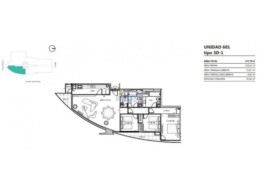 venta de apartamento 3 dormitorios en buceo