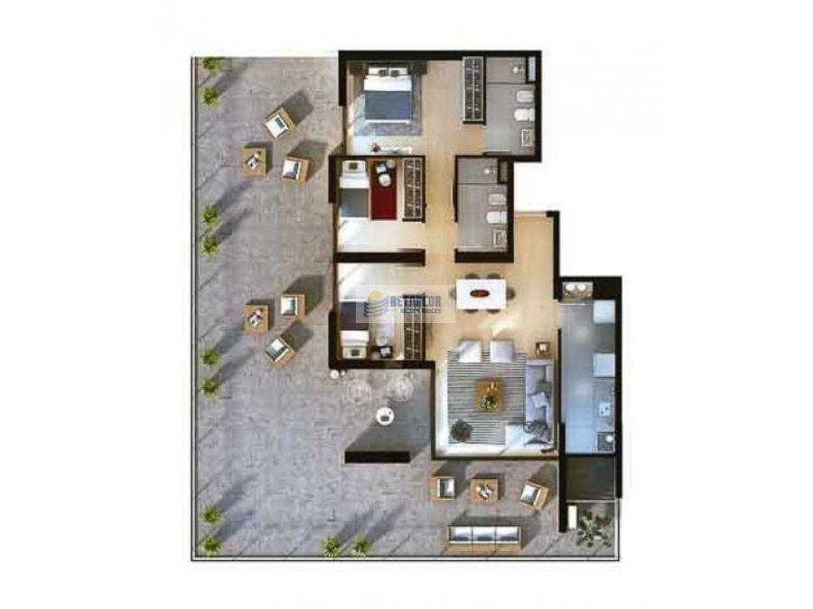 venta de apartamento 3 dormitorios en centro