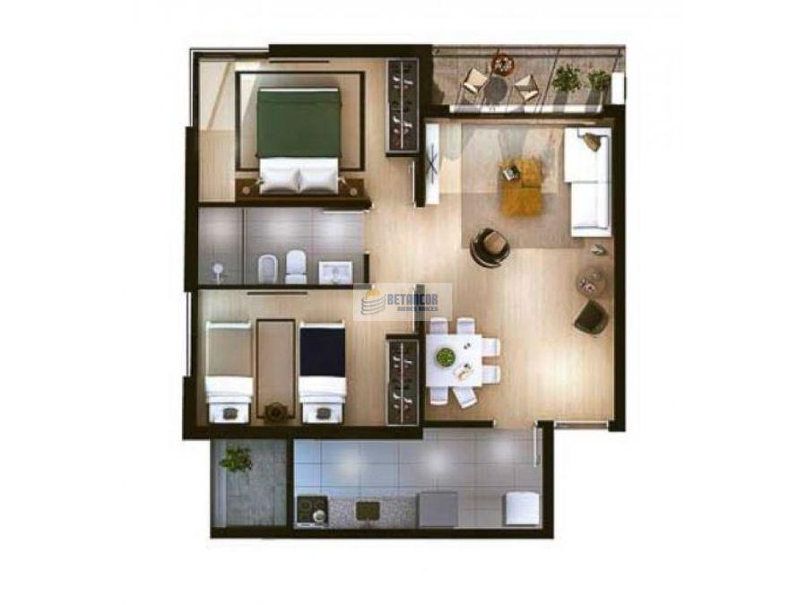 venta de apartamento 2 dormitorios en centro