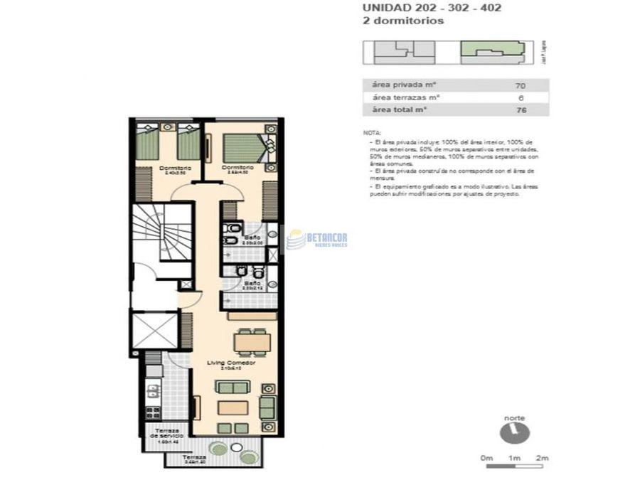 venta de apartamento 2 dormitorios en pocitos