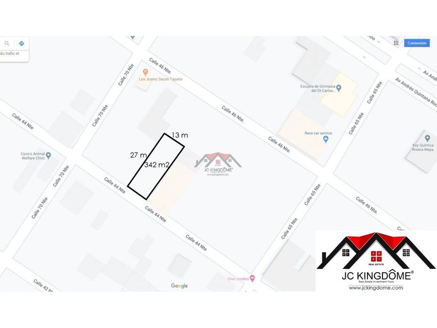 vendo terreno 342 m2 ideal construir departamentos playa del carmen