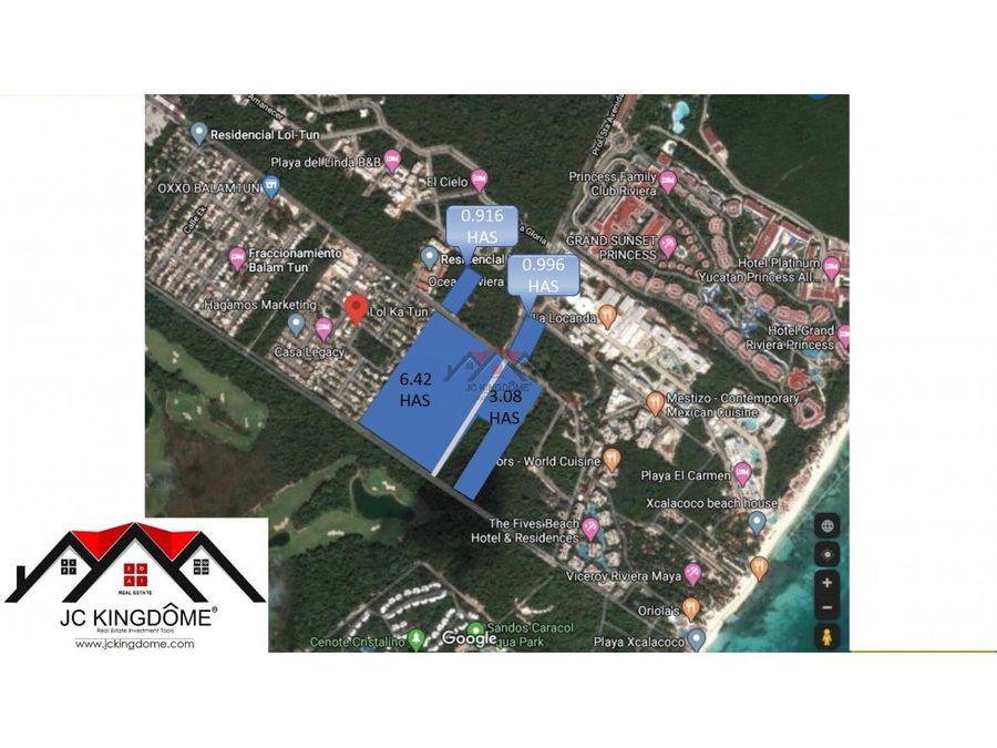 vendo 95 ha terreno xcalacoco ideal residencial en playa del carmen
