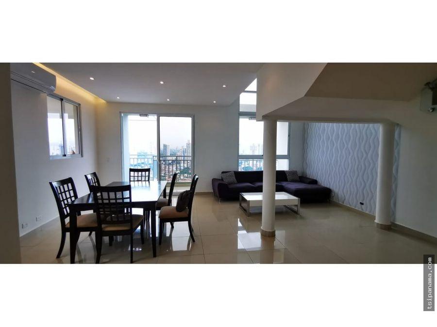 amplio penthouse en venta zona obarrio panama