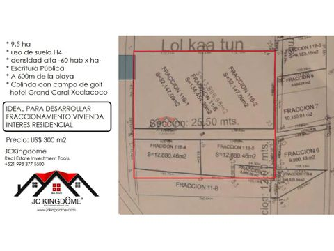 vendo 95 ha terreno xcalacoco ideal residencial en playa del carmen