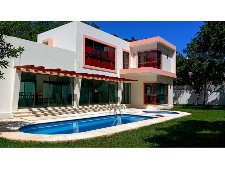 vendo hermosa casa fracc tigrillos playa del carmen