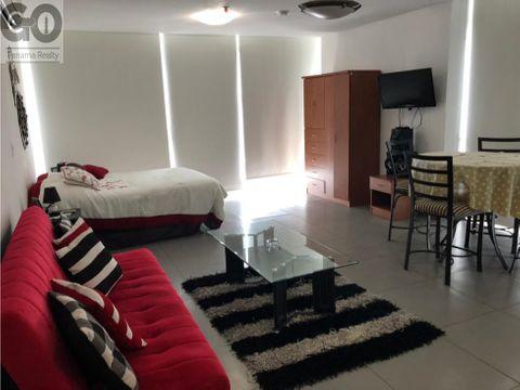 alquiler de apartamento amoblado tipo estudio bella vista