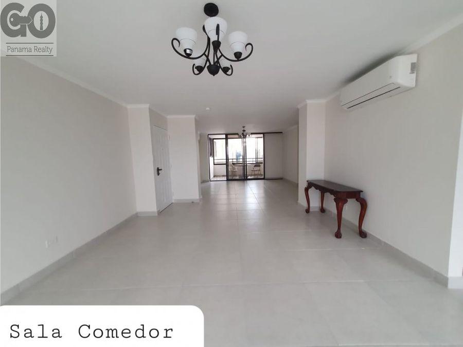 se alquila apartamento con linea blanca en el cangrejo