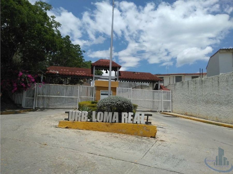 casa tipo townhouse loma real charallave