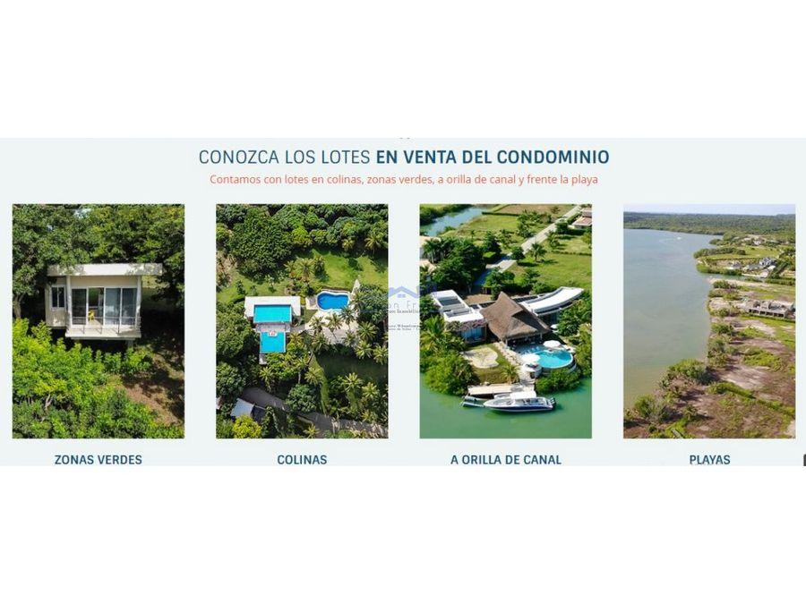 lote en venta condominio isla baru cartagena