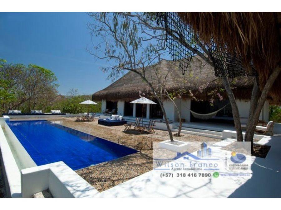 magnifica propiedad casa en venta cholon isla baru cartagena