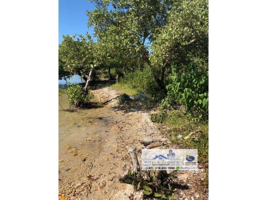 lote en venta isla baru playa mar cartagena