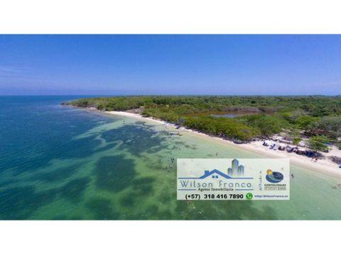 casa lote terreno en venta isla baru cartagena