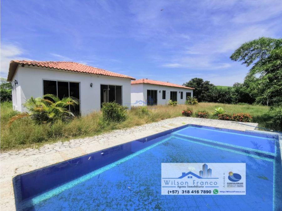 casa tipo campestre con piscina condominio la hacienda turbaco