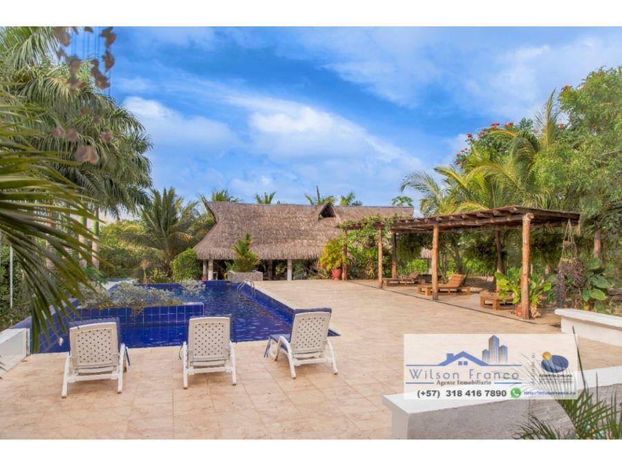 venta casa lote campestre cerca a playa blanca isla baru cartagena