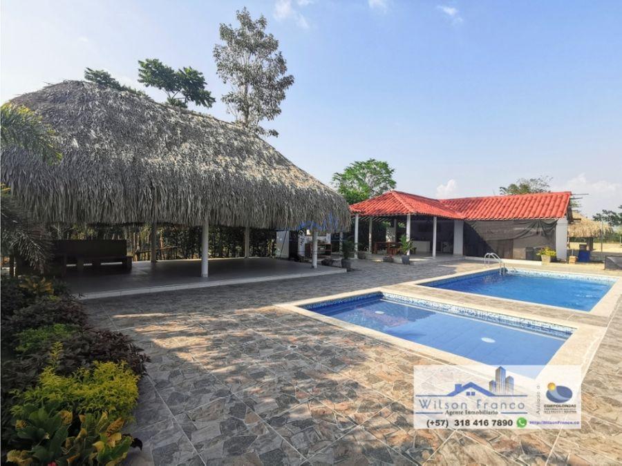 casa en venta tipo campestre piscina kiosko en arjona