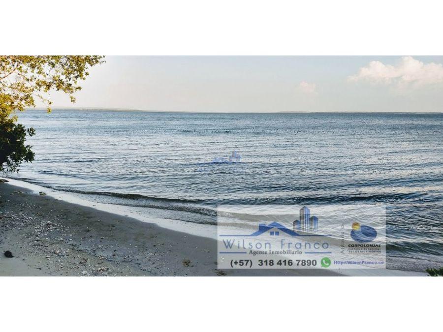 venta terreno con playa isla baru cartagena