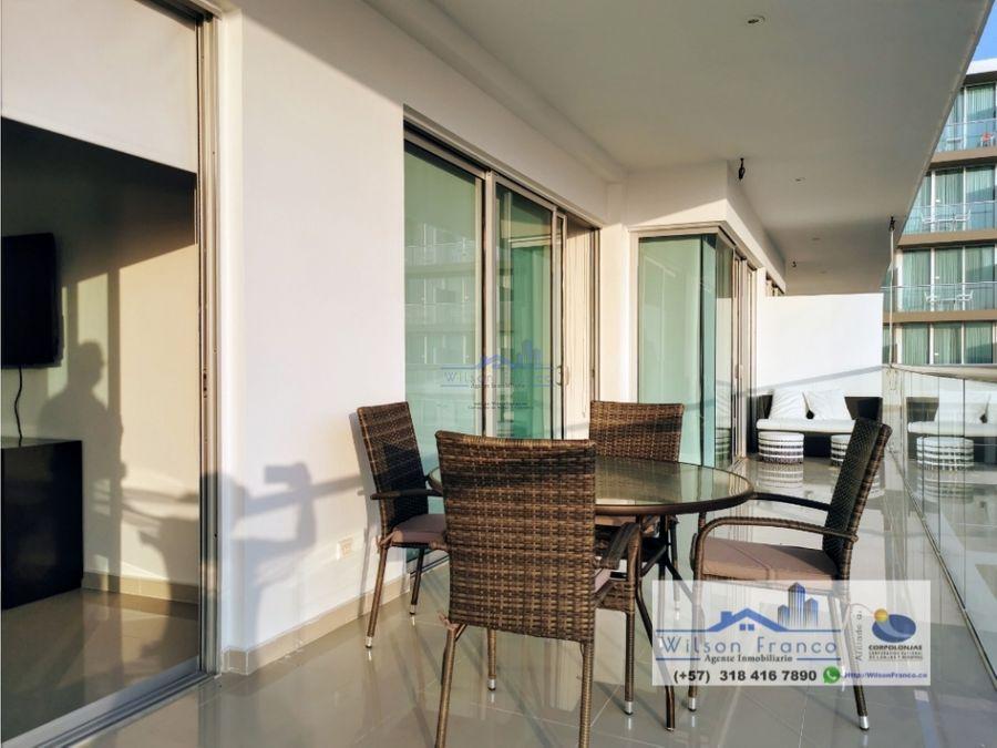 apartamento en venta amoblado morros vista al mar cartagena