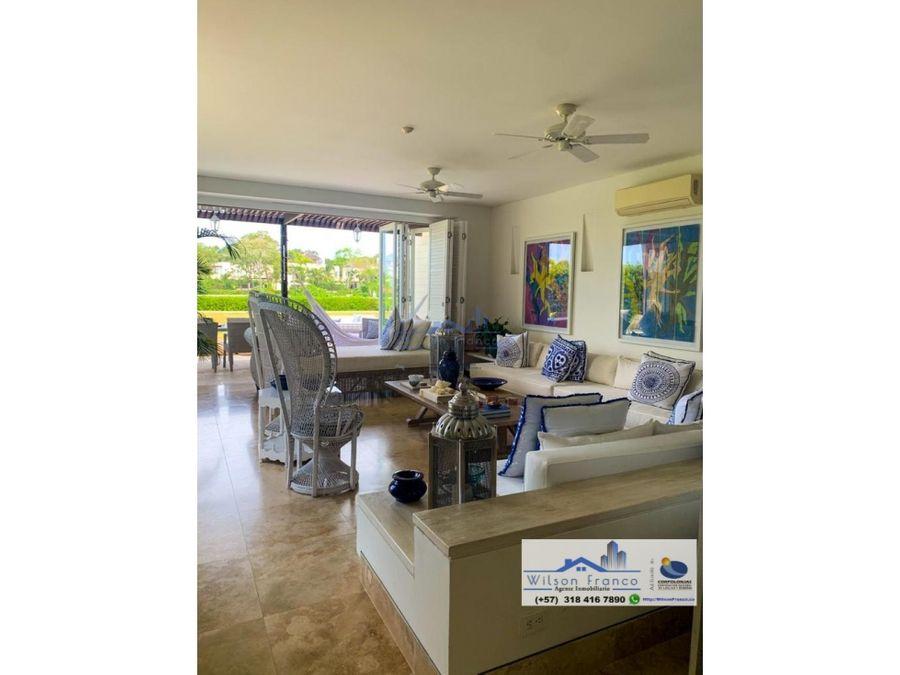 casa en venta condominio de lujo frente al mar isla baru cartagena