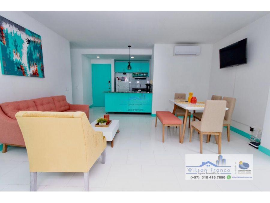 apartamento en venta amoblado morros zona norte cartagena