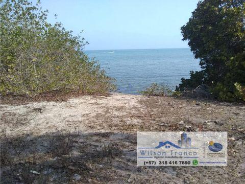 lote terreno en venta playa isla baru cartagena
