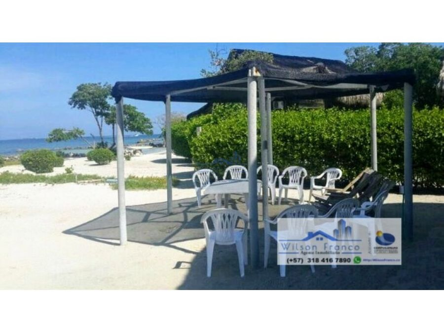 casa con playa en venta isla baru cartagena