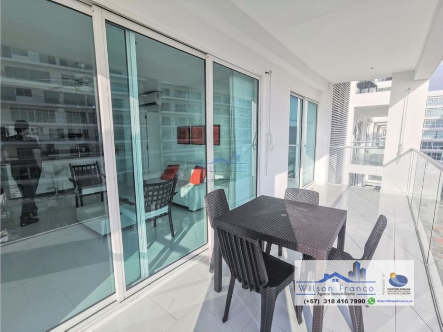 apartamento en cartagena amoblado zona morros vista directa al mar