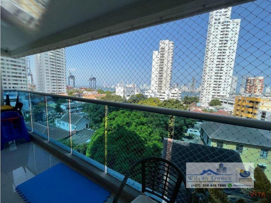 apartamento en venta club house vista a la bahia manga cartagena
