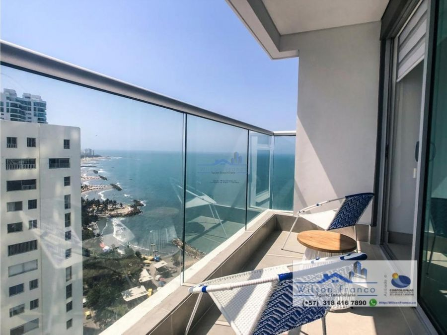 apartamento en venta bocagrande vista al mar cartagena