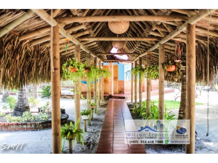 casa de playa cabanas en venta isla baru cartagena