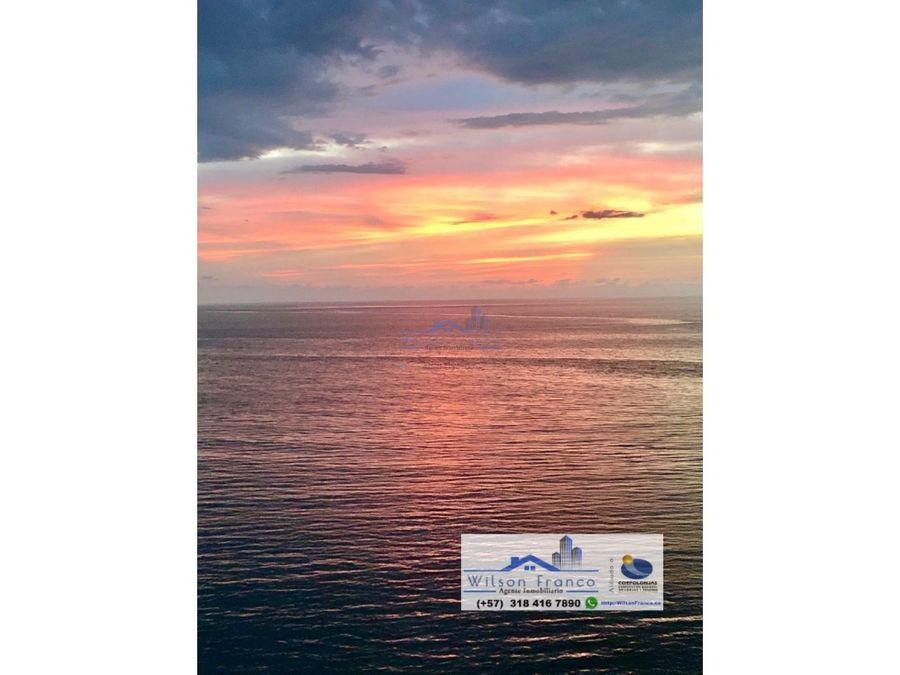 apartaestudio en venta hermosa vista al mar el laguito cartagena