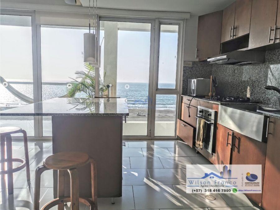 apartamento en venta amoblado morros vista frente al mar cartagena