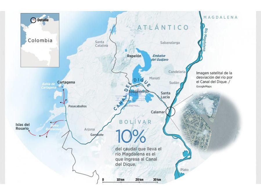 terreno en venta canal del dique cartagena