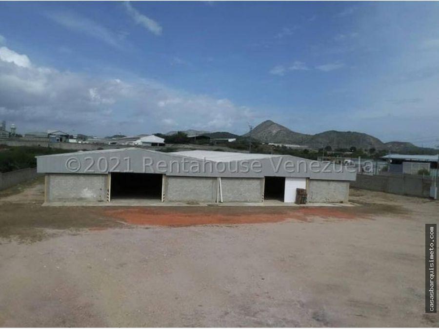 en venta galpon en zona industrial barquisimeto rah 21 18029 rde