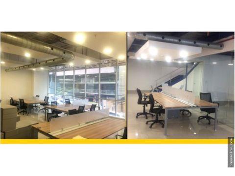 alquiler de oficina con mezanine obarrio 4518dm