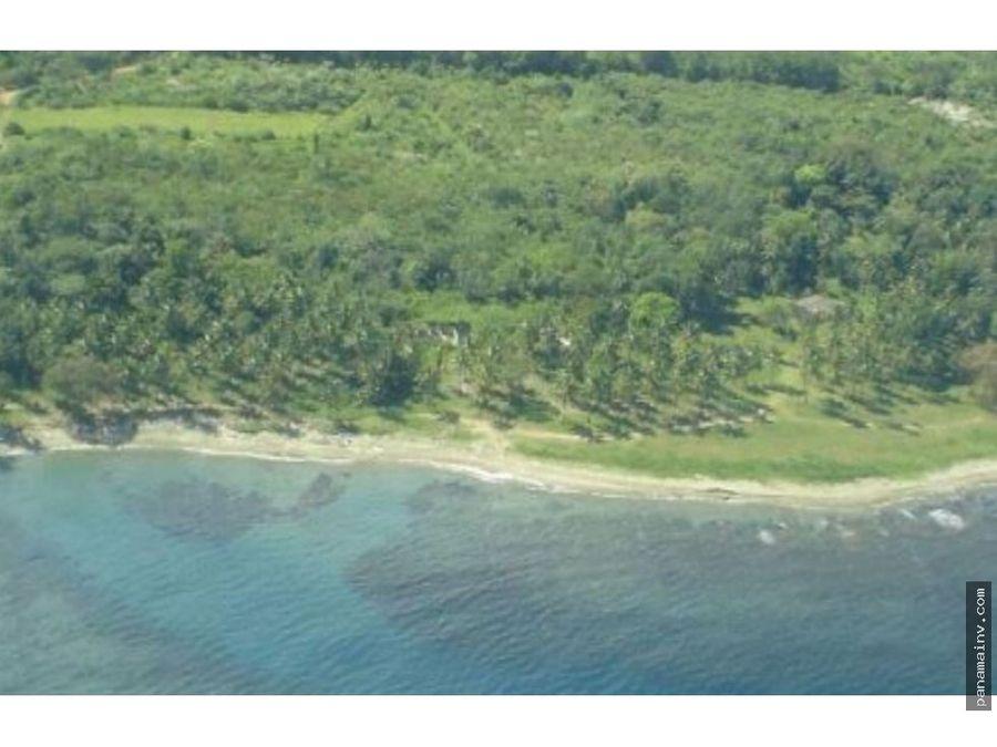 se vende terreno frente a playa en colon 5075rc