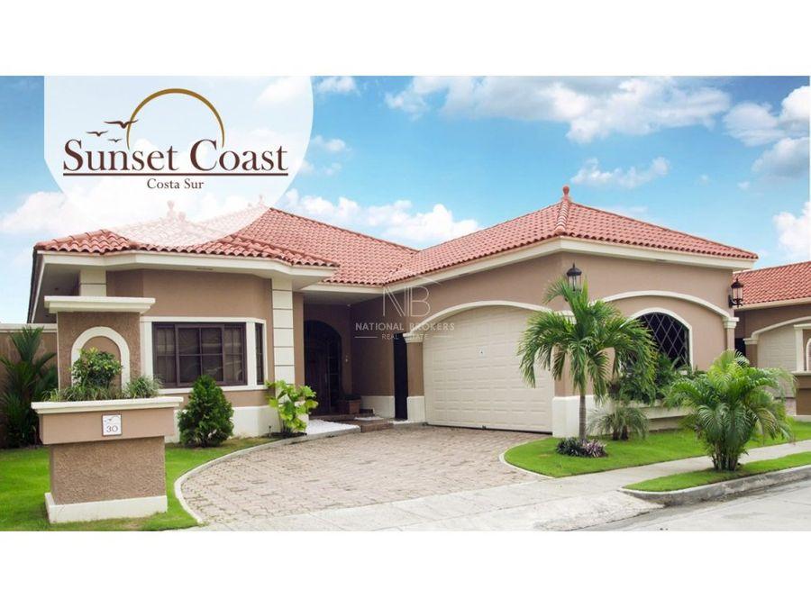 casas en venta sunset coast costa sur ciudad de panama
