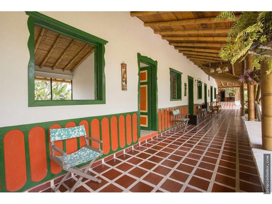 finca hotel en quimbaya de 11 cuadras