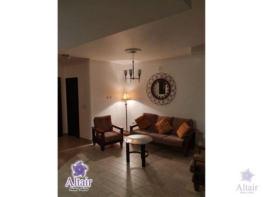 se alquila apartamento amueblado de 3 habitaciones en torre lara 1350