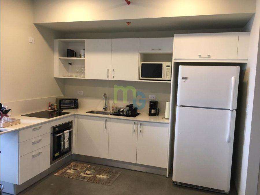 alquiler de loft amueblado en condominio en san pedro