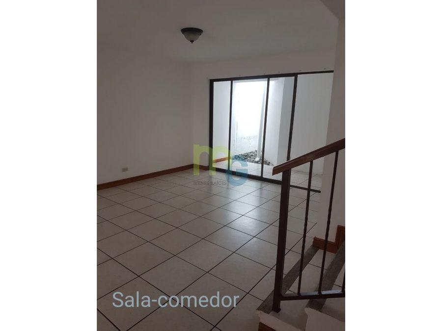 alquiler de casa en condominio en sabanilla